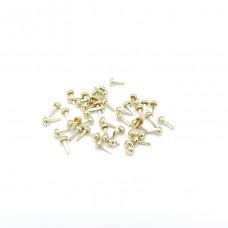 Набор брадсов d6мм, дл.10мм, золото