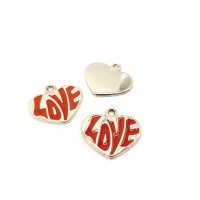 "Подвеска ""Сердце LOVE"", красное"