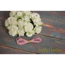 шнурок восковый 1мм, светло-розовый