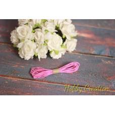 Шляпная резинка 1мм, светло-розовая