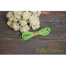 шнурок восковый 2,5мм, светло-зеленый