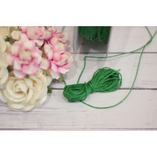 шнурок восковый 1мм, зеленый