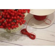 шнурок восковый 1мм, красный