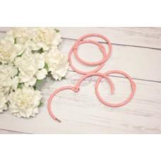 Кольцо для альбома 45мм, розово-персиковое 1шт