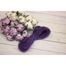 Шляпная резинка 1мм, фиолетовая