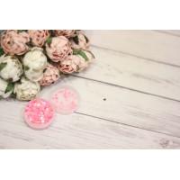 Пайетки сердечко 2мм, розовые