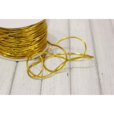 Шнур металлизированный 3мм, золото, м