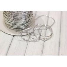 Шнур металлизированный 3мм, серебро, м