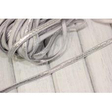 Резинка широкая 7мм, серебро, ярд