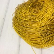 Шляпная резинка 1мм, золото