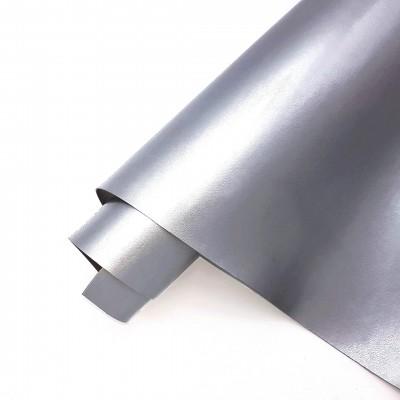 _Глянцевый переплетный кожзам (экокожа) 50*32см, серебро 245гр