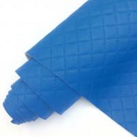 УЦЕНКА Кожзам стеганый, синий 45*33