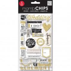 """Набор вырубок из чипборда на клеевой основе """"Our Wedding"""""""