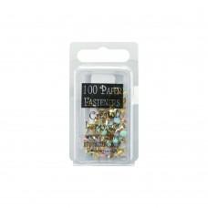 Набор брадсов Mini Painted Metal Paper Fasteners 3мм - Round - Pastel, 100шт