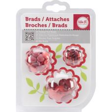 Набор Брадсов - Painted Brads - RED, 54шт