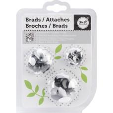 Набор Брадсов - Painted Brads - BLACK, 54шт