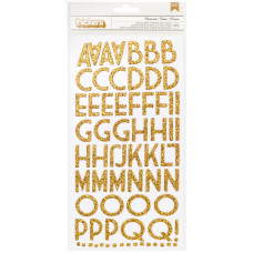 "Набор стикеров алфавит ""Thickers Chipboard Glitter Stickers"" Wisecrack - Gold"