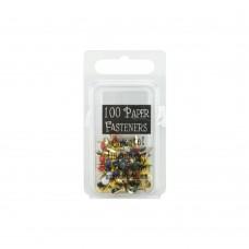 Набор брадсов Mini Painted Metal Paper Fasteners 3мм - Round - Primary, 100шт