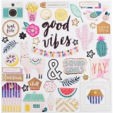 """Набор чипборда коллекции """"Good Vibes"""" от Crate Paper"""