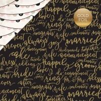 УЦЕНКА Лист бумаги 30,5*30,5см Forever & Always - Wedding Bliss