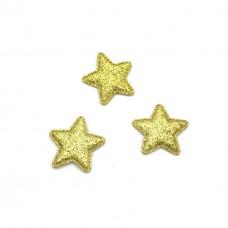 Здездочка глиттер маленькая 2,5см, золото