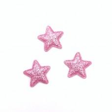 Здездочка глиттер маленькая 2,5см, св.розовая