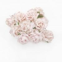 Maxi розы II 4 см с закругленными лепестками - нежно-розовые