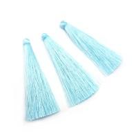 Кисточка шелк 6,5см, без колпачка, нежно-голубая
