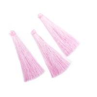 Кисточка шелк 6,5см, без колпачка, нежно-розовая