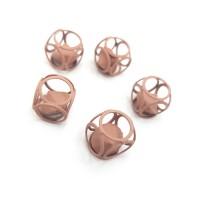 """Декор """"Матовый куб с алмазом"""" 12мм, пыльно-розовый"""