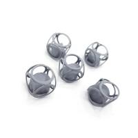 """Декор """"Матовый куб с алмазом"""" 12мм, серый"""