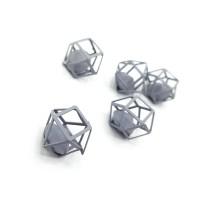"""Декор """"Матовый многогранник с алмазом"""" 12мм, серый"""