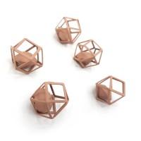 """Декор """"Матовый многогранник с алмазом"""" 12мм, пыльная роза"""