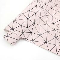 """_Кожзам """"Оригами"""" нежно-розовый, 50*33"""