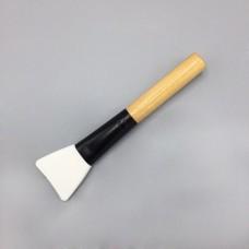 Кисть для клея силиконовая, ручка - дерево