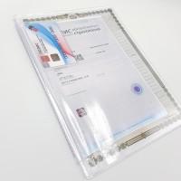 УЦЕНКА Вкладыш-органайзер для документов / формат 26*19 / старый образец / на 2 комплекта документов