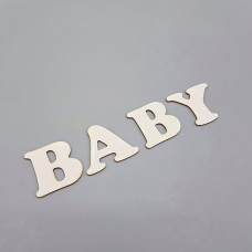 """Заготовка для тиснения """"BABY"""", 3,5*16 см"""
