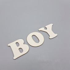 """Заготовка для тиснения """"BOY"""", 3,5*12 см"""