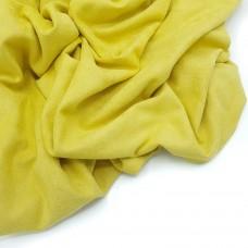 Двусторонняя замша , 25*70 горчично-желтая