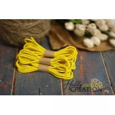 Шляпная резинка 3мм, желтая