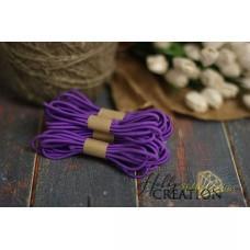 Шляпная резинка 3мм, фиолетовая