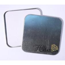 Жестяная коробочка КВАДРАТ 124*124 мм, с альбомом, 5 стр. 250гр/м2