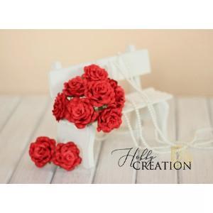 Maxi розы II 4 см с закругленными лепестками - Красные