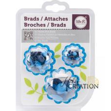 Набор Брадсов - Painted Brads - BLUE, 54шт