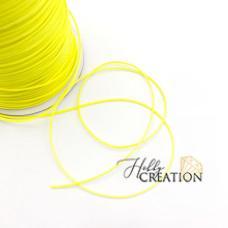шнурок декоративный 1мм, лимонный