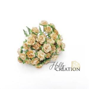 Mini розы II 1,5 см - бежевые