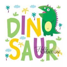 "Термотрансферная картинка ""Dino"", 14 х 14 см."