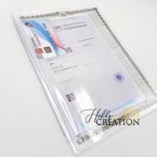 Вкладыш-органайзер для документов / формат 26*19 / старый образец / на 2 комплекта документов