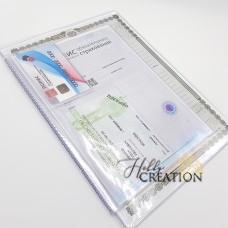 Вкладыш-органайзер для документов / формат 26*19 / старый образец / на 3 комплекта документов